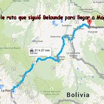 #LoÚltimo Le mostramos la posible que siguió #BelaundeLossio para llegar hasta Magdalena (Beni) donde fue capturado. http://t.co/3o90CVHD43