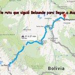 #LoÚltimo Le mostramos posible ruta que siguió #BelaundeLossio para llegar hasta Magdalena (Beni) donde fue capturado http://t.co/hgWJzXQTGy