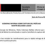 #LOÚLTIMO. @pcmperu Cateriano brindará conferencia de prensa esta noche sobre recaptura de #MBL en Bolivia. http://t.co/BVnY978E3M