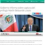 [LO ÚLTIMO] PCM informa que han iniciado las coordinaciones para la rápida entrega de #BelaundeLossio a Perú http://t.co/H6Qccx5ypt
