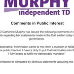 Heres @CathMurphyTD statement responding to Denis OBrien. http://t.co/kjNu4ZByH2