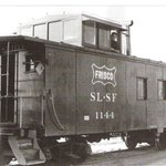 #TBT Our 1946 caboose as it looked in 1976 when it was gifted to Frisco by the Frisco Railroad. http://t.co/a5bhpKWmg0