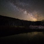 Another reason to love Vermont: You can still see starry skies! This pic, Little River State Park by @BrianDrourr http://t.co/YmcViVPvVz