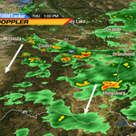 1:30pm - Cluster of #thunderstorms building all along I-90 east of #Missoula. #mtwx http://t.co/an83PpjFKW