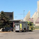 A fire truck is parked in front of Saskatoons Correctional Centre #yxe http://t.co/hhDF8U2KuZ