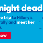Its the first big event of Hillarys campaign. You should be there. Enter by midnight: http://t.co/2AvWlZM7LJ http://t.co/sZDTVrfRZo