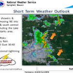 Showers & storms moving NE into central & south central MO including the Lake of the Ozarks area. #mowx http://t.co/dIFSCqplJE