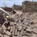 Destructions cozed last night by Saudi raids on mosque,school,& private houses in Dhahian of Saada in northrn #Yemen http://t.co/MPJ3jJFXI0