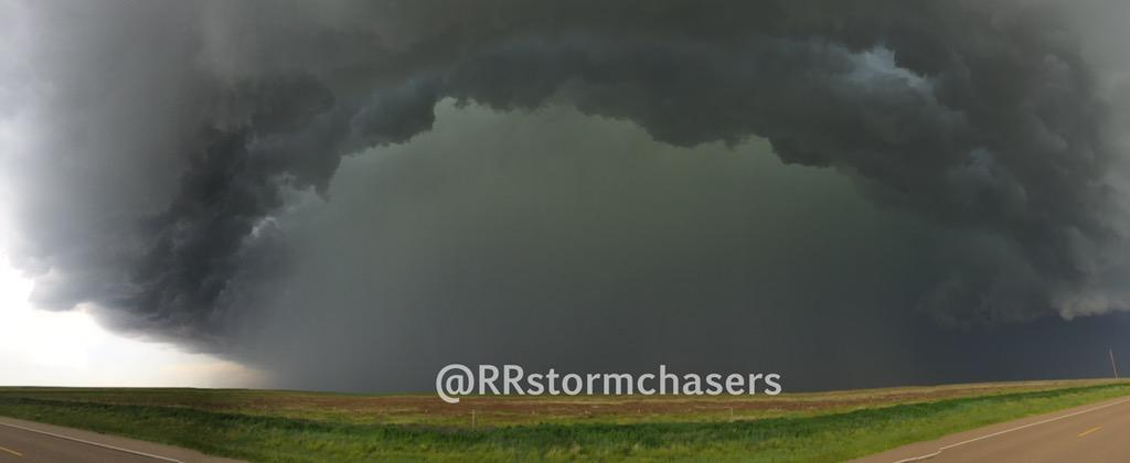 Panorama of a severe storm north of Dalhart, TX. #txwx http://t.co/kyyuw3XdB5