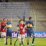 """Marcelo Vasquez (Huracán LH) """"Jugamos contra un equipo ENORME, que se quedó fuera de la Libertadores x un escritorio"""" http://t.co/kWHyK9tlcZ"""