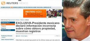 Peña Nieto declara información incorrecta sobre su casa en Valle de Bravo: Reuters #México http://t.co/DbrrF18mPP http://t.co/EdGv4xLB0U