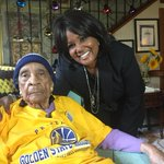 Warriors are making arrangements to get 105 year old super fan Sweetie to the Championship game next Thursday! http://t.co/SLwt6eodWE