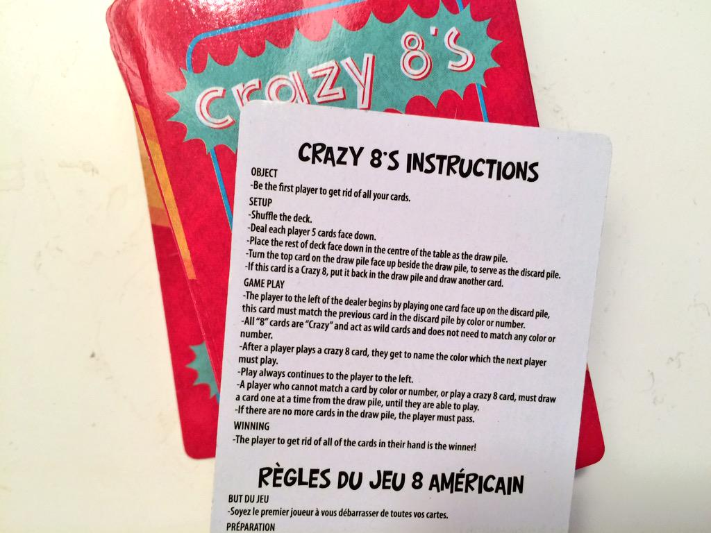 Hang On The French Translation For Crazy Eights Is 8 American