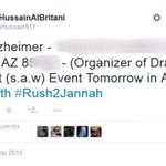 Correction: #ISIS terrorist tweets the HOME ADDRESS of the organizer of the Mohammed-drawing contest in Phoenix http://t.co/IIvz81Sq3N
