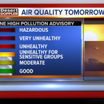 Air Quality Alert: Ozone High Pollution Advisory in the Valley Friday. #abc15wx #azwx #airquality #phoenix http://t.co/kAFmoQjCB4