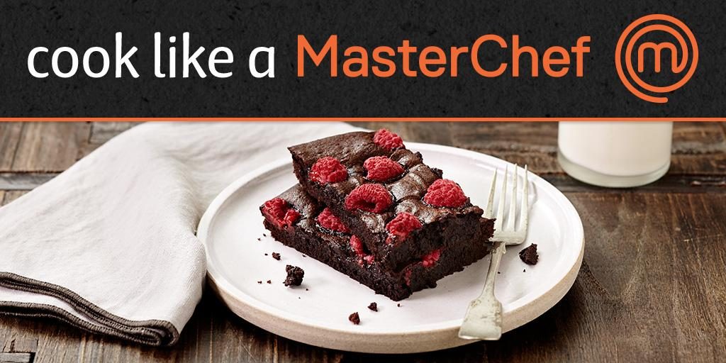 Raspberry Brownies - a great spin on a home-made classic. #MasterChefAU http://t.co/pzw02Zvid2 http://t.co/9TnXrCeMRL