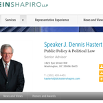 Here ~was~ Hasterts page at Dickstein Shapiro: http://t.co/EUs4QRR1eU / Its now gone & hes gone from directory. http://t.co/NVER10udV9