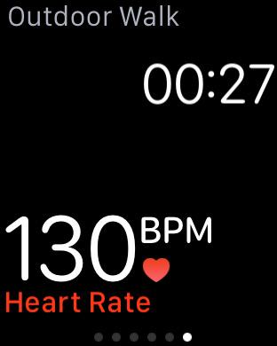 Apple Watch Workout app tip: tap in the top half of the screen to change what's shown. Top and bottom customisable. http://t.co/uKEXLBrNHt