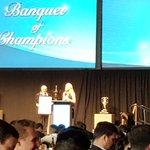 @JillKrop, Tom Larscheid present #media inductee JP McConnell #2015BOC @BCSportsHall Humour filled acceptance speech! http://t.co/5tzI0UJWMp
