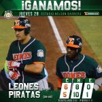 ¡Ganamos la serie! @LeonesOficial 6 - 5 @PiratasCampeche  #SomosLeones #UnSoloEquipo http://t.co/serKmAVca9