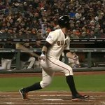 .@bbelt9 shows off the opposite-field power to give the #SFGiants a late lead: http://t.co/seNQdFWR2k #Belted http://t.co/mz5Ci1OagS