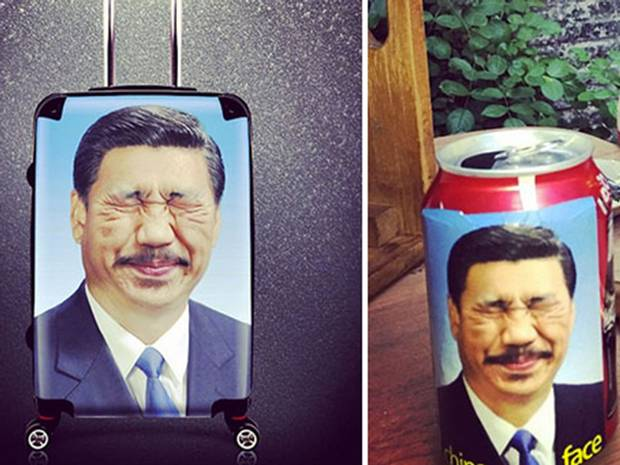 Shanghai man arrested for depicting Xi with a moustache and funny face. @Independent   http://t.co/gpT2aI2Wtp http://t.co/gvbwAWsbBs
