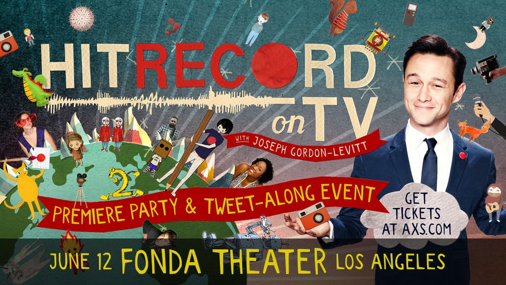 First, we'll all watch an episode of #HITRECORDonTV together - then, we shall dance. WATCH: http://t.co/05UQ3QIfFD http://t.co/c03Hpviuu3