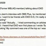 [NEWS] Lee Joon (former MBLAQ member) talked about EXO during an Interview ©trans: syjexo http://t.co/cSGZ0Vaqaa http://t.co/986Gaa5Xyx