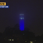 Coit Tower in #Warriors blue tonight! #Dubson7 #whereyoulive http://t.co/uPif2aKqx7