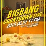 BIGBANGは新曲発表を控え6月1日午後11時にネイバーで生中継を行う。ファンと疎通し新曲について直接紹介する放送になる予定。 http://t.co/JykeAVcRJj