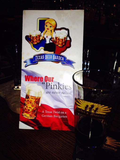 We will be at Texas Beer Garden on fm 1488 this evening 6-9pm for a Tap Takeover.!  Come join us! http://t.co/jFwTwOFkIs