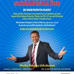 I have invited over 1,000 companies to Machakos to interview, employ & offer skills training for our County youth. http://t.co/SzPpZaR2zF