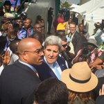 #US Secretary of State @JohnKerry arriving for the @MBuhari inauguration ceremony Photo via @KelvinNews http://t.co/VdiqLtakgE