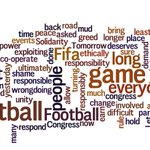 Word cloud of Sepp Blatters speech which he delivered yesterday #FIFAarrests #FIFAgate #FIFAcorruption #Blatter http://t.co/b3HCfORPNv