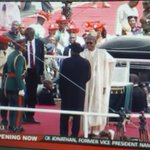 Dr. Goodluck Ebele Jonathan officially hands over to Gen. Muhammadu Buhari, President & Commander-in-Chief of Nigeria http://t.co/KzpMw4hzcQ