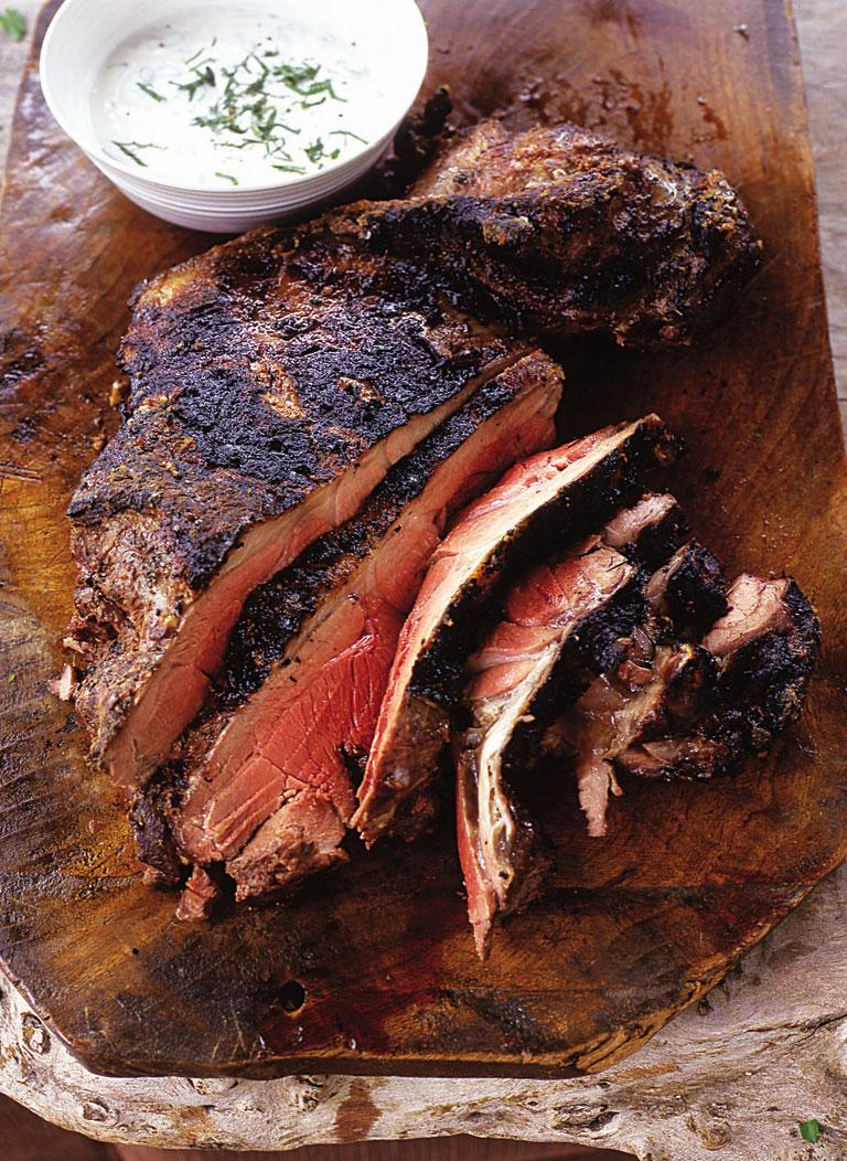 #Recipeoftheday Spicy barbecued lamb with minty lemon yoghurt - a lovely Sunday lunch number! http://t.co/gZeSYbkn4t http://t.co/EhLbQf066g