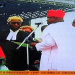 Akinwunmi Ambode takes Oath of Office in Lagos State. #DemocracyDay #InagurationDay. http://t.co/eUYsozlB0Z
