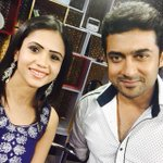 """With @Suriya_offl at #masss interview! He said """"fans are like GOD for me"""" on live!that is y every1 luvs him so much???? http://t.co/tRZxPEe9pl"""