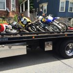 BPD confiscate illegal dirt bikes from a residence on Stonehurst St Dorchester #boston #wcvb http://t.co/I2aGj6brqj