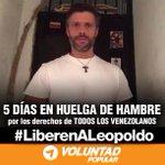 """5 días en huelga de hambre por nuestros derechos ¡NO LO DEJEMOS SOLO! #30MVamosTodos por Vzla #FuerzayFe http://t.co/BNAsDsiqGj"""""""