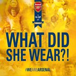 SHE WORE A YELLOW RIBBON :) RT @Arsenal: Morning @Arsenal fans… https://t.co/M10dlK6WnD http://t.co/h0UjyQ6oh6