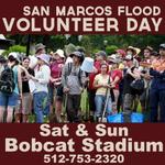 San Marcos Flood Volunteers! Sat & Sun: Arrive @txst Bobcat Stadium! #txst #smtx #SMTXFlood #serveSanMarcos http://t.co/YJLJz9R2ns