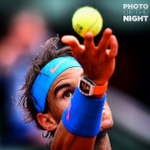Rafael Nadal keeps his eye on the ball in yesterdays inevitable straight sets win at the French Open. http://t.co/I3gjAGrvW1