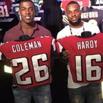 Rookies @Teco_Raww and @FreakMagic2 get a look at their NFL threads: http://t.co/YqBYtBTodX #RiseUp http://t.co/JwHgXGzO3L