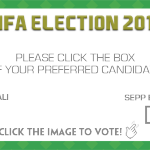 FIFA ELECTION: Not long until the big decision, click to vote for Prince Ali or Sepp Blatter...#FIFACongress http://t.co/h2FlGM2NcA