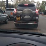 A disciplined government officer stuck in traffic with us. Very proud. Towards town nhif to railway. http://t.co/fi6S9sDWW6 via @muriithib