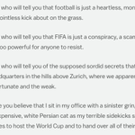 The FIFA presidents 2013 speech inadvertently described everything corrupt about FIFA: http://t.co/oWtUPCqnTl http://t.co/x75NzK17E9