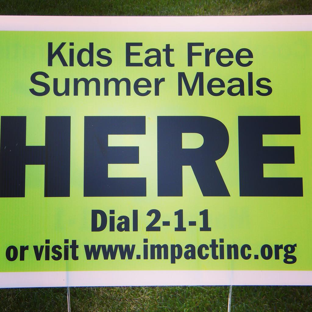 In 2014 #mke kids found this sign at >150 #summermeals sites- excited to kickoff 2015 w/ @USDA Sec. Tom Vilsack! http://t.co/gMANG2LUjT