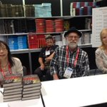Laura Joh Rowland, Jeff Markowitz and Anne Flett-Giordano sign at Booth 2657. #BEA15 http://t.co/D8aRxFP7yB