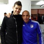 In Colombia for the preperation of the Copa América, Pedro Franco visited his former team #Millonarios in Bogota. http://t.co/NI6GZX9IJK